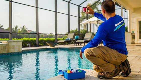 Inspecting Pool Water Quality | Edgewater Pools and Spa Services - Naples, Bonita Springs, Isles of Capri, & Estero