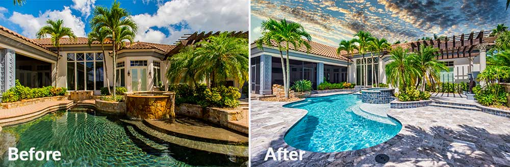 Pool Renovation Before & After | Edgewater Pool Service