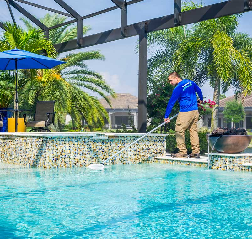 Skimming Pool - Monthly Pool Service | Edgewater Pools and Spa Services - Naples, Bonita Springs, Isles of Capri, & Estero