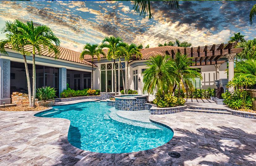 Pool Renovation Full Backyard Finished Job | Edgewater Pool Service Naples