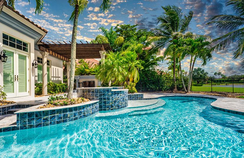 Pool Renovation Backyard Image| Edgewater Pool Service Naples
