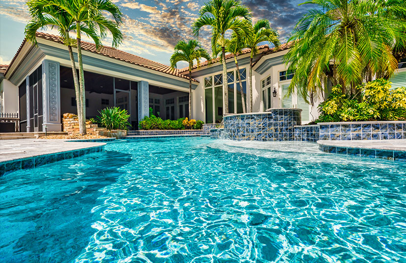 Finished Image of the Pool Pool Renovation | Edgewater Pool Service Naples