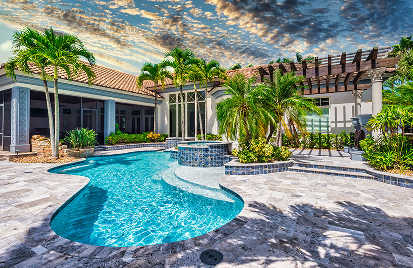 Pool Renovation Final Finished Image| Edgewater Pool Service Naples